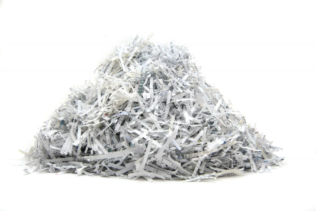 Wentzo Security shredded paper